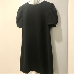 Zara Woman Black Shift Dress with Pearls - Sz SM